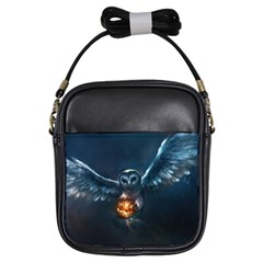 Owl And Fire Ball Girls Sling Bags