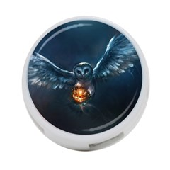 Owl And Fire Ball 4 Port Usb Hub (two Sides)