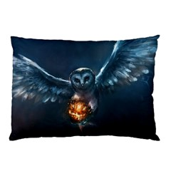 Owl And Fire Ball Pillow Case (two Sides)