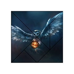 Owl And Fire Ball Acrylic Tangram Puzzle (4  X 4 )