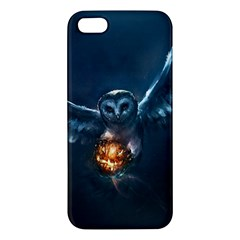 Owl And Fire Ball Apple Iphone 5 Premium Hardshell Case