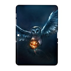 Owl And Fire Ball Samsung Galaxy Tab 2 (10 1 ) P5100 Hardshell Case