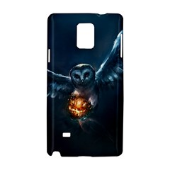 Owl And Fire Ball Samsung Galaxy Note 4 Hardshell Case