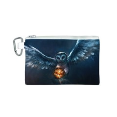 Owl And Fire Ball Canvas Cosmetic Bag (s)