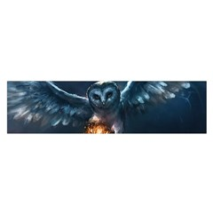 Owl And Fire Ball Satin Scarf (oblong)