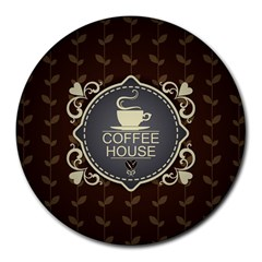 Coffee House Round Mousepads