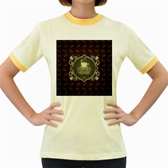 Coffee House Women s Fitted Ringer T Shirts