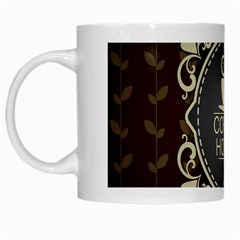 Coffee House White Mugs