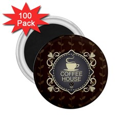 Coffee House 2 25  Magnets (100 Pack)