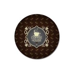Coffee House Magnet 3  (round)