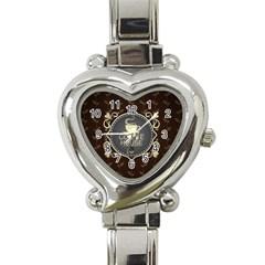 Coffee House Heart Italian Charm Watch