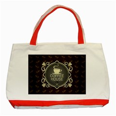 Coffee House Classic Tote Bag (red)