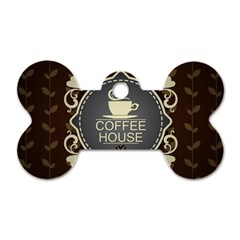 Coffee House Dog Tag Bone (one Side)