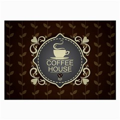 Coffee House Large Glasses Cloth (2 Side)