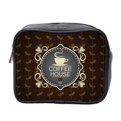 Coffee House Mini Toiletries Bag 2 Side