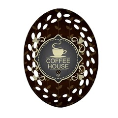 Coffee House Oval Filigree Ornament (two Sides)