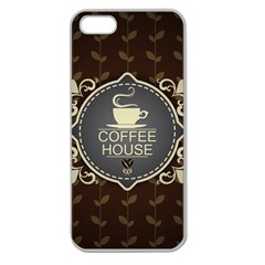 Coffee House Apple Seamless Iphone 5 Case (clear)