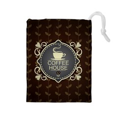 Coffee House Drawstring Pouches (large)