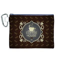 Coffee House Canvas Cosmetic Bag (xl)