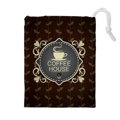 Coffee House Drawstring Pouches (extra Large)