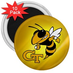 Georgia Institute Of Technology Ga Tech 3  Magnets (10 Pack)