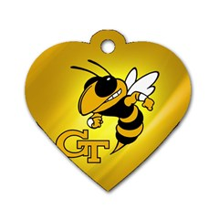 Georgia Institute Of Technology Ga Tech Dog Tag Heart (one Side)