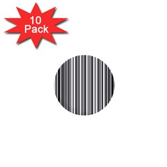 Barcode Pattern 1  Mini Buttons (10 Pack)