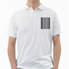 Barcode Pattern Golf Shirts
