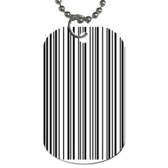 Barcode Pattern Dog Tag (two Sides)