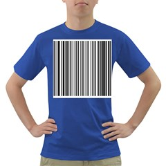 Barcode Pattern Dark T Shirt