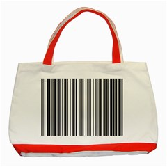 Barcode Pattern Classic Tote Bag (red)