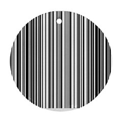 Barcode Pattern Round Ornament (two Sides)
