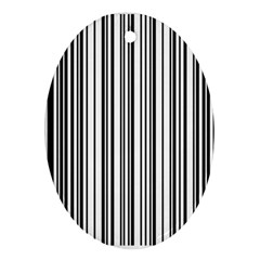 Barcode Pattern Oval Ornament (two Sides)