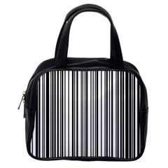 Barcode Pattern Classic Handbags (one Side)