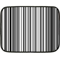 Barcode Pattern Double Sided Fleece Blanket (mini)