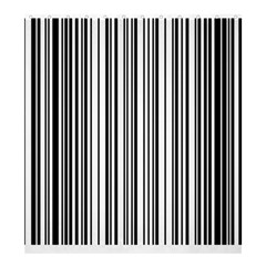 Barcode Pattern Shower Curtain 66  X 72  (large)