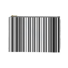 Barcode Pattern Cosmetic Bag (large)