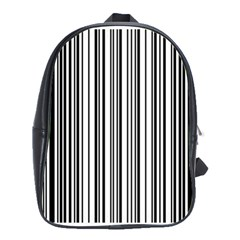 Barcode Pattern School Bags(large)