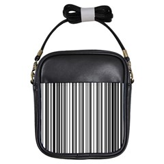 Barcode Pattern Girls Sling Bags