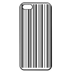 Barcode Pattern Apple Iphone 5 Seamless Case (black)