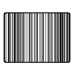 Barcode Pattern Double Sided Fleece Blanket (small)