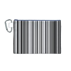 Barcode Pattern Canvas Cosmetic Bag (m)