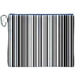 Barcode Pattern Canvas Cosmetic Bag (xxxl)