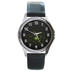 Green Android Honeycomb Gree Round Metal Watch