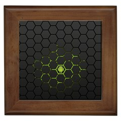 Green Android Honeycomb Gree Framed Tiles