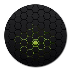 Green Android Honeycomb Gree Round Mousepads
