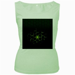 Green Android Honeycomb Gree Women s Green Tank Top