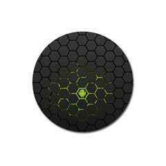 Green Android Honeycomb Gree Magnet 3  (round)