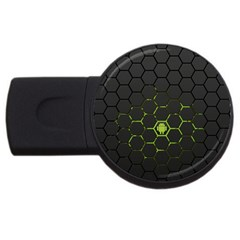 Green Android Honeycomb Gree Usb Flash Drive Round (2 Gb)