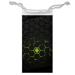 Green Android Honeycomb Gree Jewelry Bag